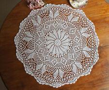 Cotton Hand Crochet Lace Doily Doilies Mat Placemat Table Cloth Round 60CM Ecru