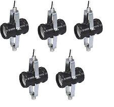 Case of 5 Leviton Twin Socket 660W-250V Lamp Light Holders 4015-D4F Bakelite lot