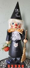 "Christian Ulbricht 16"" Trick Or Treat Witch Halloween Nutcracker Signed & Dated"