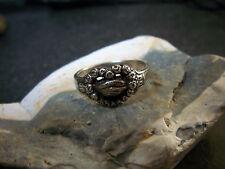 Freimaurer-Ring-Silber-830- Brudergruß- Rosen-Herz-Hände- Treuhandgriff