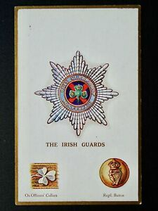 Regimental Badges THE IRISH GUARDS Postcard by Gale & Polden 1661