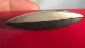 Ed Weiner Sterling Silver Ebony Black Mid Century Tie Clip Clasp