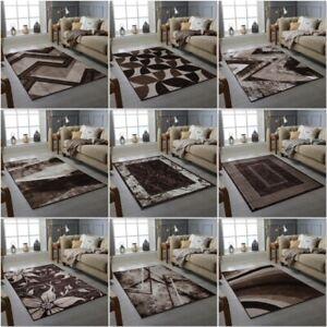 Modern Rug Beige Brown Living Room Rug Bedroom Floor Rugs Small And Large Sizes