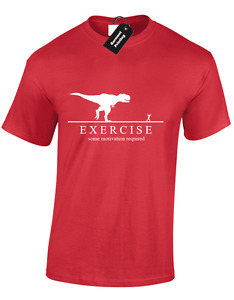 EXERCISE DINOSAUR MENS T SHIRT RUNNING FASHION DESIGN TOP BIG SIZES