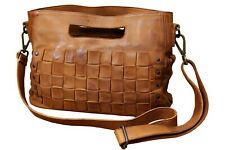 Genuine Cow Hide vintage Full Grain Real Leather Handbags for Women Shoulder Bag