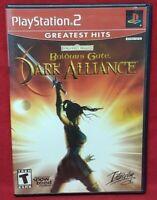 Baldur's Gate Dark Alliance -  Playstation 2 PS2 Game Tested Complete - 1 Owner