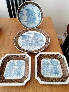 ORIENTAL POTTERY EXTRA LARGE BOWLS & PLATES CRACKLE FINISH