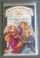 Guardian Angel Pin Gift In A Merry Christmas Card, New, Christian, Religion