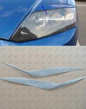 Unpainted Headlight Eyelids Eyebrows for 2003-2006 Hyundai Coupe Tiburon 2004 05