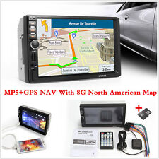HD 7'' Touch Screen Car GPS Bluetooth Stereo MP5 Player & 8G North American Map