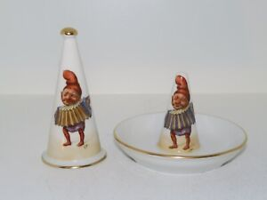 Royal Copenhagen Candle Snuffer With Christmas Elfs