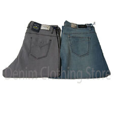 2 Pairs Women Juniors Plain Blue Stretch Denim Straight Leg Jeans Size 15 New