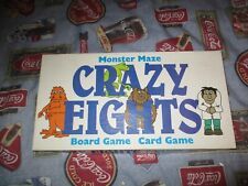 WARREN PAPER PRODUCTS , MONSTER MAZE CRAZY EIGHTS BOARD & CARD GAME - COMPLETE!