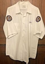 Vtg Bowling Button Down Shirt Illinois Lions Club Mens Rockabilly Patches Jack