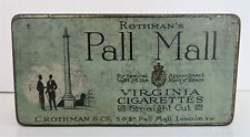 Vintage Advertising Tin Rothman's Pall Mall 100 Straight Cut Cigarettes England