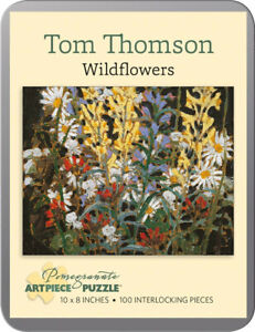 Artist Tom Thomson Wildflowers Canada Art Puzzle 100 Pieces 8x10 inches New!
