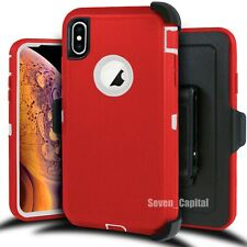 For iPhone XR XS MAX Shockproof Case Cover With Belt Clip Fits Otterbox defender