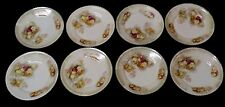 BEAUTIFUL SET OF 8 KOENIGSZELT SILESIA P K DESSERT PLATES LUSTER & ROSES GERMANY