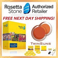 NEW Rosetta Stone® LEARN SPANISH LATIN AMERICAN FULL 1 2 3 4 5 CD SET + DOWNLOAD