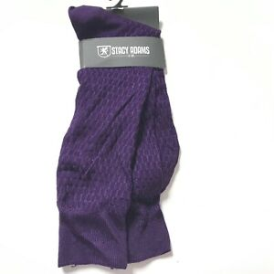 Stacy Adams Dress Socks Solid Color Casual Socks Purple Career Work One Size New