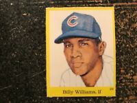 Billy Williams Cubs 1989 Baseball Hall of Fame Sticker CUT FROM FULL SHEET