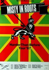 MISTY IN ROOTS - 1987 - Tourplakat - Reggae - Harder than Before - Poster