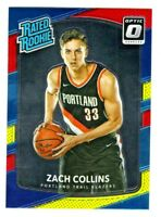 2017-18 Optic RATED ROOKIE RED YELLOW ZACH COLLINS RC Retail SP QTY AVAILABLE