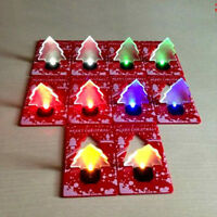 LED Christmas Tree Card Lights Colorful Night Light Xmas Tree Party Decor Lamp