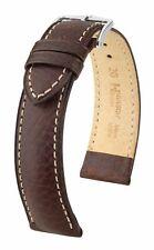 Hirsch Boston 18 mm brown watch strap, length M