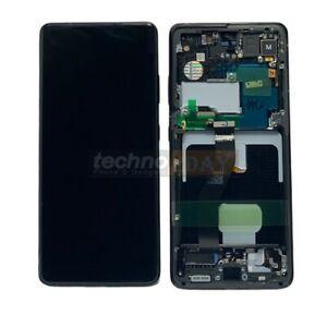 Genuine Samsung S21 Ultra 5G (G998B) LCD Assy +Frame New Black GH82-26036A