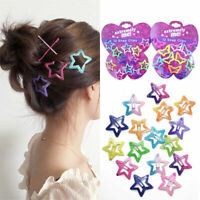 12PCS Boutique Girl Baby Kids Hair Clips Snap Hairpin Grip Barrettes Candy Color