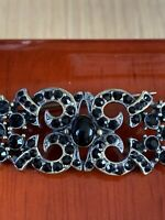 Vintage 1950s Brooch With Black Stones