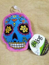 Go Dog Day of the Dead Skull Chew Guard Squeaky Dog Puppy Toy