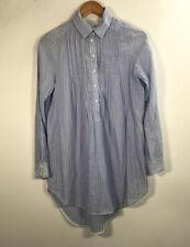 Zara Women/'s Purple Button Down Shirt Straps Top Size S M Ng24