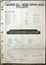 Boss GL-100 Guitar Driver Rack Unit Original Service Manual, Schematics Booklet