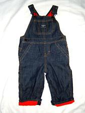 OshKosh BGosh Denim Jean Overalls Baby Boy 12M Warm...