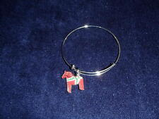 Scandinavian Swedish Dala Horse Bangle Bracelet #BC39