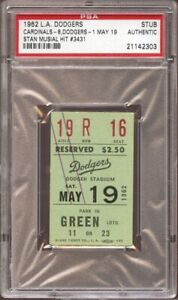1962 PSA Ticket Pass Stan Musial Hit #3431 Tops Honus Wagner NL Leaded Hits St.L