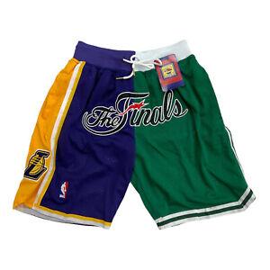 Just Don Lakers NBA Shorts 'The Finals 2008' Hardwood Classics RARE Size Medium
