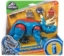 IMAGINEXT Jurassic World DR. SATTLER AND TRICERATOPS DINOSAUR FIGURE SET PARK