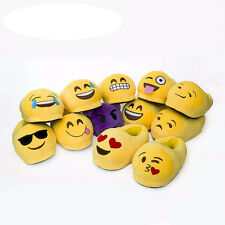 Kids/Women/Men Slippers Cute Emoji Slipper Cartoon Plush Winter Home House Shoes