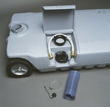 15 Gallon RV Waste Tote Portable Wheel Gray Black Sewer Waste Water Tank Camper