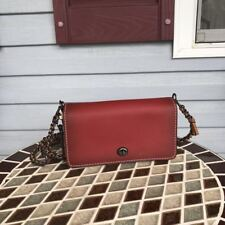 NWT COACH 56263 DINKY Crossbody Bag 1941 Colorblock Red Chalk $395
