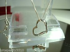 FLOATING HEART STERLING SILVER NECKLACE PENDANT