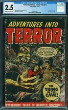 Adventures Into Terror #1 (#43) CGC 2.5 Atlas 1950 Pre-Code Horror Key! L11 cm