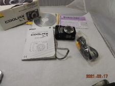 Nikon COOLPIX L1 6.2MP 5x Zoom Digital Camera - Black Complete In Box