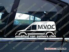 COVNM modifié van owners club autocollant pour ford transit connect van mk1 haut toit