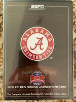 ALABAMA 2010 National COLLEGE Football Championship - Rose Bowl Stadium NEW DVD