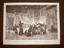 Esposizione di Torino del 1875 Il pranzo del Vescovo Quadro di Federico Pastoris
