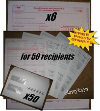 2016 IRS TAX FORMS KIT:: 1099-MISC Laser for 50 recipients + 50 envelopes + 1096